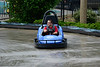 Walt Hester | Trail-Gazette<br /> Sol Marburg slides sideways through a curve at Fun City on Saturday. Rain cancelled some events in Estes Park on Saturday, it add new fun to others.