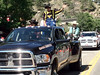 The stock contractor and clowns were among the leading floats in the July 10 Rooftop Rodeo Parade in Estes Park.