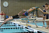Walt Hester | Trail-Gazette<br /> Middle school swimmers jump in off the starting blocks on Monday. The middle school swim season in just a few weeks away.