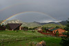 A double rainbow was visible east of Estes Park following Sunday evening thundershowers that moved through the area.