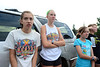 Walt Hester | Trail-Gazette<br /> Kelsie Lasota and Estes Park graduate Sara Speedlin meet the high school and middle school cross country teams on Thursday morning. Lasota steps into the role of leader based on her hard work and results while Speedlin moves on to college in Grand Junction.