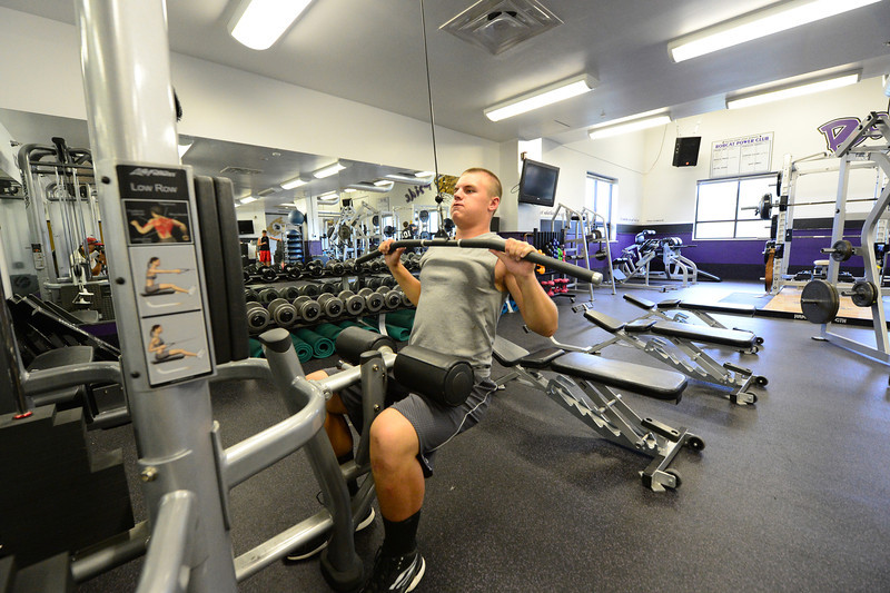 Walt Hester | Trail-Gazette<br /> Frankie KellerTwigg gets a rare workout on Wednesday. KellerTwigg admits to leaning more on natural ability than some of his team mates.