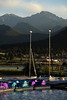 Walt Hester | Trail-Gazette<br /> Warm summer evening sun casts long shaddows across Longs Peak and the Lake Estes Marina on Thursday evening. WIth the long summer daylight, families spend plenty of time out around the lake.