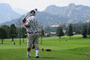Walt Hester | Trail-Gazette<br /> Carl Henderson of Estes Park drives in the direction of the Stanley Hotel on Wednesday. The Lake Estes 9-hole course has fewer fareways but just as much scenery as the 18-hole course.