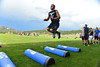 Walt Hester | Trail-Gazette<br /> Frankie KellerTwigg elevates over blocking dummies on Monday. KellerTwigg and the rest of the team are on their way to the new football season.