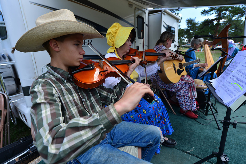 Walt Hester | Trail-Gazette<br /> The High Country Strings perform at the bazaar and festival on Saturday. The arts of the festival included music.