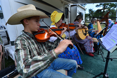 Walt Hester | Trail-Gazette The High Country Strings perform at the bazaar and festival on Saturday. The arts of the festival included music.