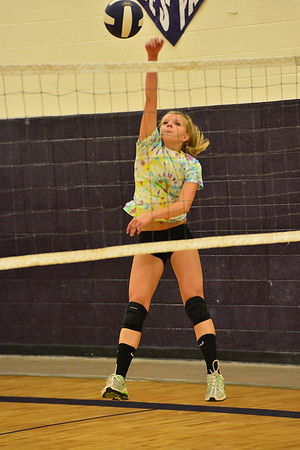 Walt Hester | Trail-Gazette<br /> Karin Kingswood stays late to work on her hitting on Wednesday. Many of the girls show a desire to improve.
