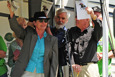 Walt Hester | Trail-Gazette Performers wave to the crowd at the bazaar and festival of the Hilltop Guild on Saturday. The event raises money for scholarships for students in Estes Park and Lyons hig schools.