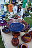 Walt Hester | Trail-Gazette<br /> Dale Rose, a member of the Boulder Potters Guild, presents her wares at the bazaar on Saturday. The Hilltop Guild invites artists from far and wide for the event.