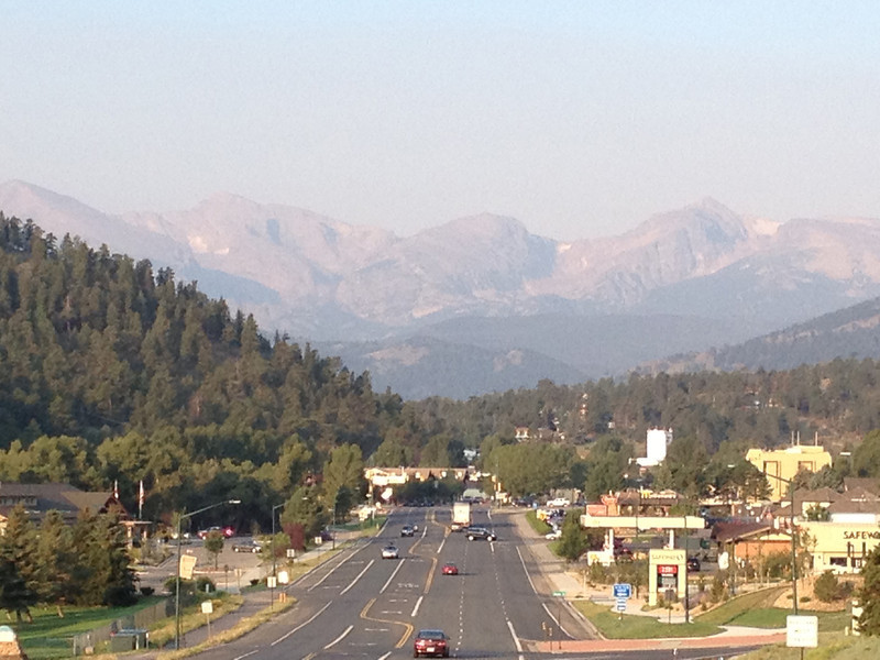 A very faint line from smoke hangs above the Continental Divide Friday morning. Temperatures should be slightly warmer today after the chilly start. Highs should reach the mid to upper70s with the familiar chance of afternoon showers.