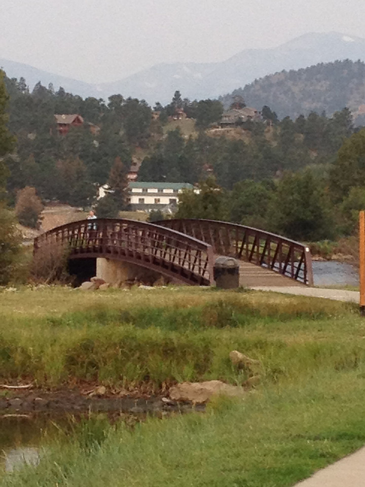 High haze from western wildfires again hangs over Estes Park on Wednesday. We can again expect the haze all day with a chance of rain in the afternoon and a high in the upper 70s.