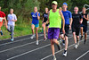 Walt Hester | Trail-Gazette<br /> Jeff Switzer leads the form drills on the track on Monday. Switzer has set his sights on a state title.