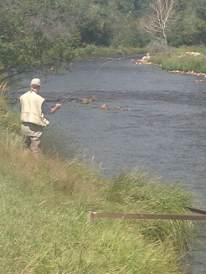 A fisherman tests his skills Sunday in the Big Thompson along the Lake Estes Trail next to the 9-Hole golf course.