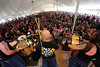 Walt Hester | Trail-Gazette<br /> Throngs of fans jam the rock music tent on Saturday to hear Albannach. The Scottish band draws huge crowds every year they play the Longs Peak Scottish Irish Highland Festival.