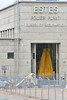 Walt Hester | Trail-Gazette<br /> Enormous doors open to the Estes Power Plant to allow for a huge water hose. The plant operators performed tests in the plant on Wednesday that required the water and tripped alarms.