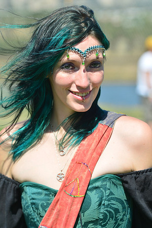 Walt Hester | Trail-Gazette<br /> Susan Anderson of Nederland takes the opportunity of the Scot Fest to dress as a mythical Celtic being on Sunday. Kilts, armor and fairy wings were all at the festival grounds during the Scot Fest.