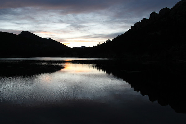 Lily Lake at sunset in mid-August.