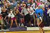 Walt Hester | Trail-Gazette<br /> Josh Hays sweeps schoolmates around the stands at Tuesday's volleyball match. Estes Park High School students have become increasingly creative with their school spirite over the years.