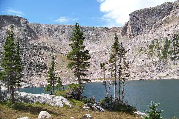 Snow Drift Lake high in the Rocky Mountains.