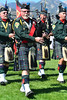 Walt Hester | Trail-Gazette<br /> The El Jabel Shrine Pipe and Drum Band leads the clans from the field after the Kirking of the Tartans on Sunday. The El Jabel Pipe and Drums is the oldest pipe and drum band in Colorado.