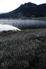 Walt Hester | Trail-Gazette<br /> Fog rolls off one of the Scott Ponds on Tuesday and frost tops grass. The fog and frost are signs of the coming autumn.
