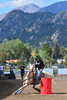Walt Hester | Trail-Gazette<br /> Racer Glenda Coffman of Golden rounds her second barrel during Sunday's competition. The event drew racers from all over to enjoy the weather and scenery of Estes Park.