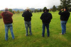 Walt Hester | Trail-Gazette<br /> Road and bridge workers from Archuleta County enjoy elk watching on the Lake Estes Nine-Whole golf course on Wednesday. The men who were also hunters, gave the animals a respectful birth.