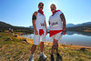 Walt Hester | Trail-Gazette<br /> Andrea Stegeman and Chrystal Rochat are dressed for the running on Saturday. The costumes were inspired by Pamplona's annual Running of the Bulls.