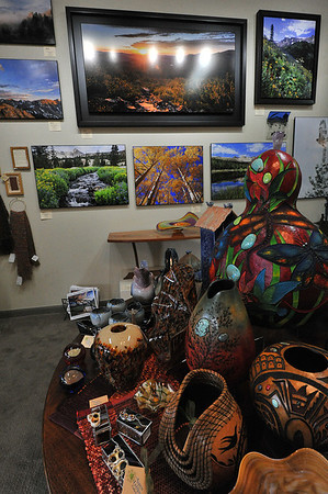 Long-time Estes Park artist James Frank re-opened the Aspen and Evergreen gallery on Elkhorn Avenue in time for the annual Art Walk. The gallery features not only Frank's work, but that of many other area artists.