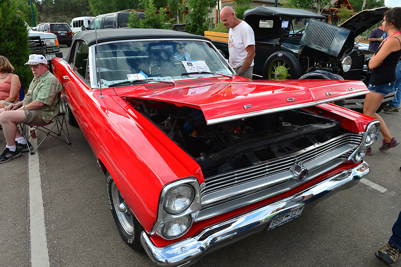 A 1966 Ford Fairlane attracts attention at the monthly Estes Park Car Club Cruz-In on Friday. Look for more cool cars on Independance Day as the car club puts on their annual Coolest Car Show in Bond Park.