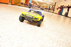 A remote controled car races across the floor at the Estes Park Middle School on Wednesday. Kaezen Tag, 11, and Justus Friesen, 12, are preparing for the middle school's science fair in May, when the pair will see at what angle the car will no longer climb.