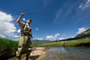 EPDestination Fishing Day.jpg Walt Hester | Trail Gazette<br /> Kevin Fricke of Denver casts his line in the Big Thompson River in Moraine Park. The rivers, streams and lakes in and around the national park draw anglers from far and wide.