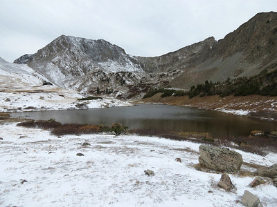 Michigan Lakes with Thunder Pass in the northern most part of RMNP