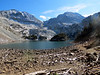 """Lake Agnes with Mount Richthofen and """"Mahler"""" Peak in the background."""