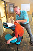 Scott anderson performs a chair massage at the Estes Park Medical Center Health Fair on Saturday. Recovery, like massage and even naps, are helpful in a healthy lifestyle.