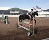 A horse has little trouble clearing a jump at the July 26-28 Hunter Jumper show being held at the Fairgrounds at Stanley Park.