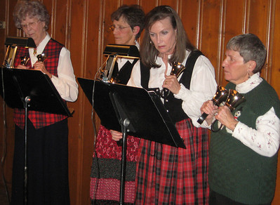 Belles and bells -- Hand-bell ringers will be part of the festivities at the Olde English Christmas Feast at The Stanley this Friday and Saturday nights.