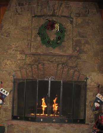 A happy hearth is part of the Olde English Christmas feeling, last year at the YMCA.