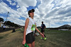 Women's marathon champion Yasuyo Kitano takes a deep breath after crossing the finish line in 3:30:26 on Sunday. The Estes Park Marathon, celebrating its 10th year, has attracted more and better racing every year.