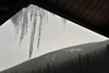 Icicles hang from the warming hut in Hidden Valley on Thursday. With mixed weather to come, more long fingers of ice will likely form around town.
