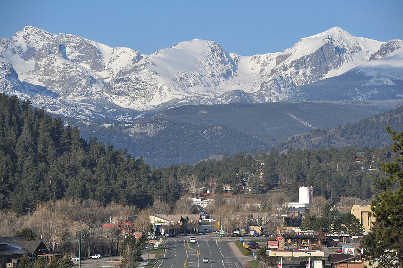 New snow gleams on the mountains of the national park over the weekend. The snow puts the South Platte River drainage at normal for the year, though the rest of the state is still lagging in their snowpack.