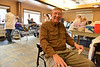 Town trustee Eric Blackhurst awaits his turn at the blood drive on Monday. The Estes Park Medical Center usually hosts three blood drives each year.
