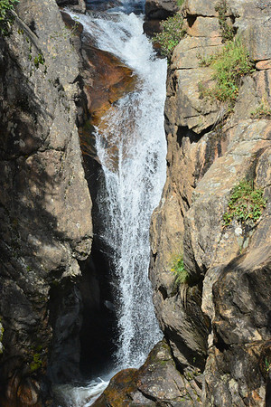 Chasm Falls is located off of Old Fall River Road in Rocky Mountain National Park.