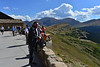Labor Day visitors to Rocky Mountain National Park enjoyed the views from the Alpine Visitor Center high on Trail Ridge Road Monday.