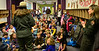 All eyes were on Rocky Mountain National Park rangers Kathy Brown and Kyle Patterson as the two spoke to students at the Estes Park Elementary School Monday morning.