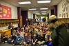 Ranger Kathy Brown speaks to Estes Park Elementary students Monday morning.