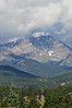 Photo by Walt Hester<br /> Storm clouds swirl over the top of Ypsilon Mountain on Tuesday. While rain has ruled he skies for most of the week, sunny and warm weather should return this weekend.