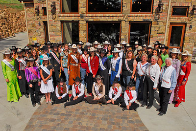 Rodeo queens past and present from the Rooftop Rodeo and from as far away as Florida, gather for the Queen's Lunchen at the Bella Terra resort west of Estes Park on Fall River Road on Tuesday. Several of the rodeo queens will be at the Rooftop Rodeo through Sunday. Photo by Walt Hester.