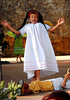 "Photo by Walt Hester<br /> Finn Tierney, 10, plays Francis Flute in the Soggy Noodles Saturday performance of ""A Midsummer Nights Dream"" at Performance Park. The Shakespeare performance featured actors between the ages of 6 and 12."